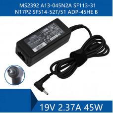 Блок питания (Зарядка) для ноутбука ACER  19V 2.37A 45W (3.0mm) KP.0450H.013 Для Acer aspire 3  A315-34