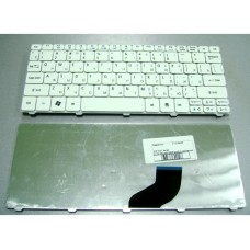 Клавиатура для ноутбука Acer Aspire One 521, 522, 533, D255,  D257, D260, Aspire One HAPPY 2, Aspire One NAV, Acer eMachines 350, Gateway LT21, Packard Bell Dot SE PAV70, SE PAV80 белая