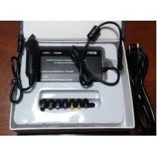 Универсальный автоадаптер +блок питания LogicPower для ноутбука 100Вт. выход от 12В до 24В