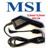 Автоадаптер для ноутбуков MSI 20v 2a