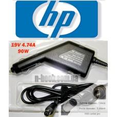 Автоадаптер для ноутбуков HP 19v 4.74a