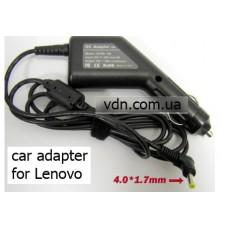 Автоадаптер для ноутбуков  Lenovo  IdeaPad 5-15ARE05 N21 N22 100S 11IBY 80YN (разъем 4.0мм х 1.7мм)