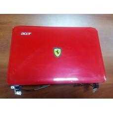 Корпус для ноутбука Acer One 200 (крышка матрицы с рамкой+петли от корпуса ноутбука Acer One 200).Красный цвет.
