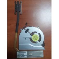 Кулер (Вентилятор) и система охлаждения для ноутбука HP Pavilion Ultrabook 14-b, 14-B033CA, 14 -B100. P/N : 4GU33HSTP60 702747-001 (4 PIN).