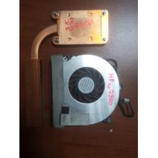 Кулер (Вентилятор) и система охлаждения для ноутбука HP nx7400 nx7300 xw8200 nx6130. P/N : HY60C-05A 6033A0006501 (3 PIN).