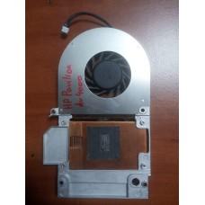 Кулер (Вентилятор) и система охлаждения для ноутбука HP Pavilion Dv4000. P/N : DBC55120H (3 PIN).