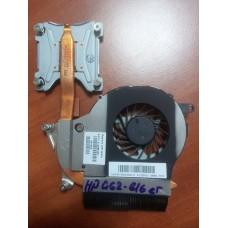Кулер (Вентилятор) и система охлаждения для ноутбука HP G62 G62-b16er G72 Compaq Presario CQ62 CQ72. P/N : NFB73B05H (3 PIN).