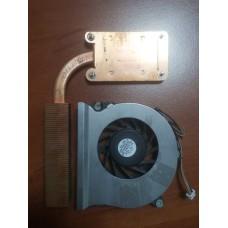Кулер (Вентилятор) и система охлаждения для ноутбука HP Compaq nc6220 nc6230. P/N : 378233-001 UDQFRZR01C1N  (4 PIN).