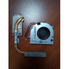 Кулер  ( вентилятор )  и система охлаждения для ноутбука Lenovo G555 G450 G455 G550 G450A. P/N : DC2800086S0 . 3 pin .