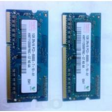Память для ноутбука So-dimm. DDR-3 1Гб (1 Gb) PC3-8500S