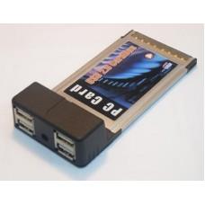 Адаптер PCMCIA (CARDBUS) адаптер USB 2.0 4-х портовый